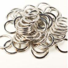 30mm Flat Silver Metal 'O' Ring